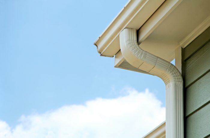 white corner gutter Evergreen Construction Solutions 8425 Old Statesville Rd #8, Charlotte, NC 28269 (704) 609-3561